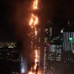 ВДубае полыхает небоскреб, впламени десятки этажей