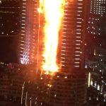 Сгоревший небоскреб The Adress Hotel вДубае продолжает дымиться