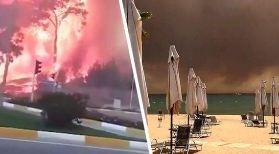 Эвакуация туристов из Анталии