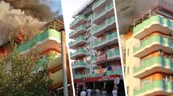 В Турции загорелся отель, заполненный туристами