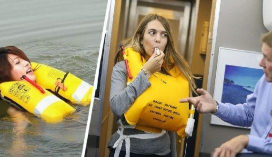 Почему никогда нельзя надувать спасательный жилет в самолете, даже если вы упадете в воду